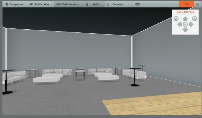 AllSeated floorplan 3D