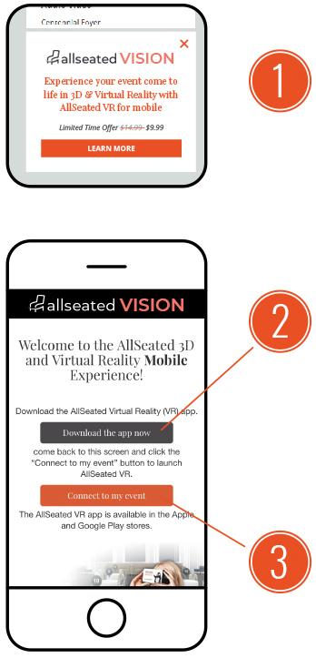 allseated VR steps