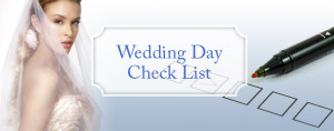 wedding day check list