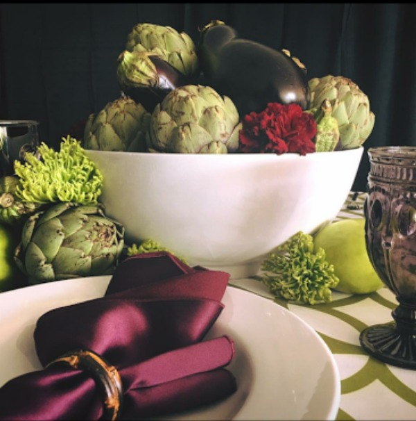 fall foods tablescape