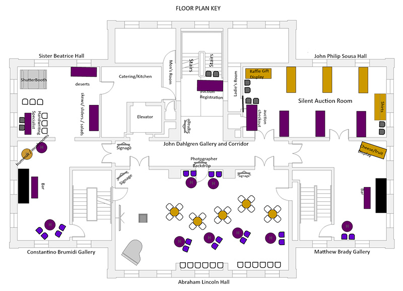 final layout of venue floorplan