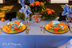 basketball baby shower tablescape