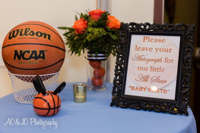 basketball baby shower