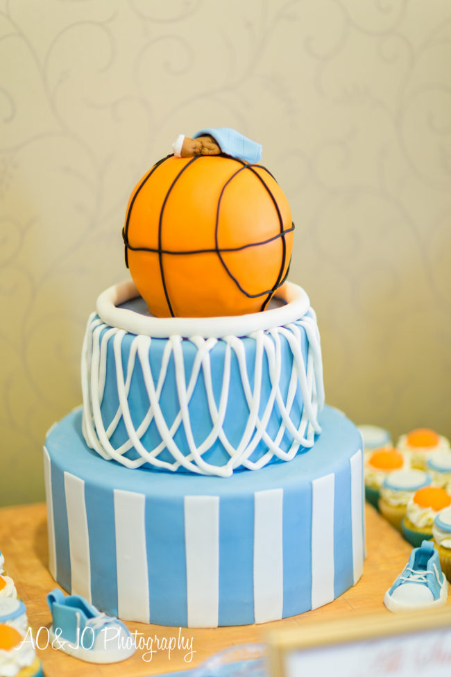 basketball baby shower cake