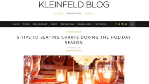Kleinfeld Blog - 5 Seating Chart Tips For The Holiday Season