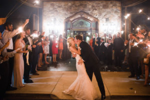 bride and groom on dance floor at their wedding. See more photos in this spotlight! /AllSeated