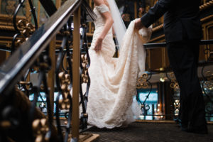 beautiful bride in her wedding gown! View more photos in this spotlight post/ AllSeated
