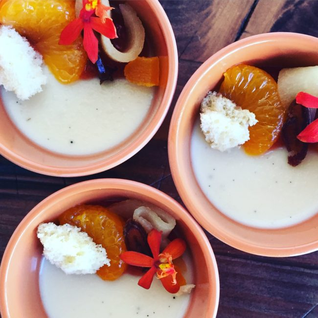 burnt honey and camomile panna cotta recipe