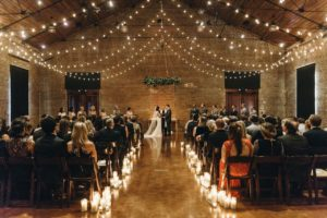 getting creative with candles for your wedding