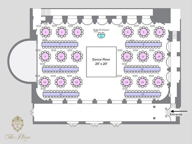 Allseated 39 s wedding seating chart maker for Wedding floor plan