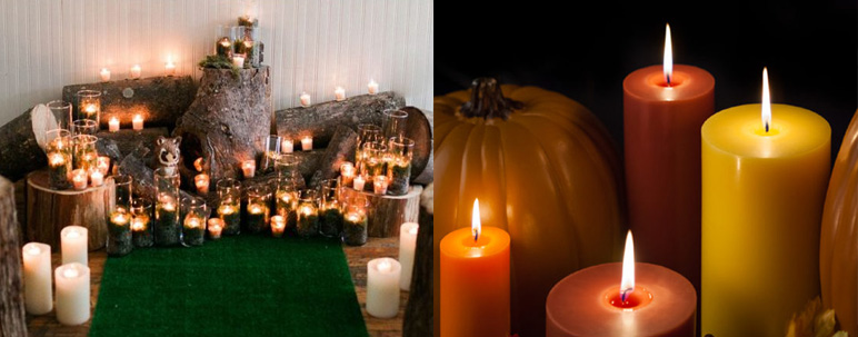 fall wedding lighting inspiration