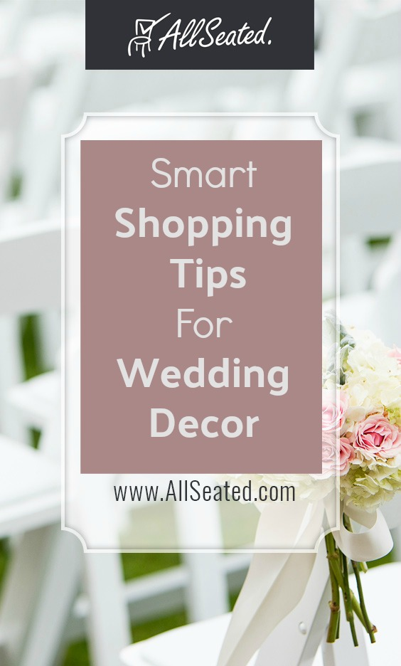 smart shopping tips for wedding decor