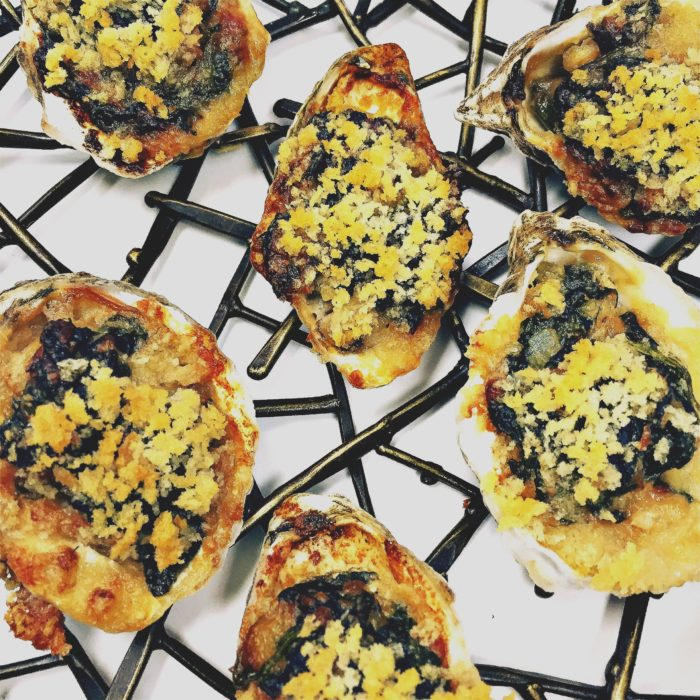Baked Oysters Florentine