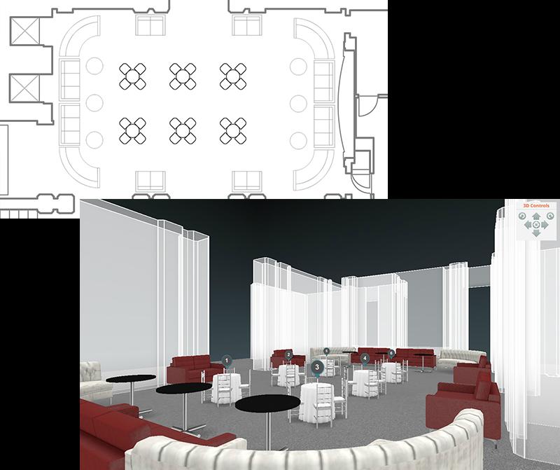 AllSeated 3D Floorplan