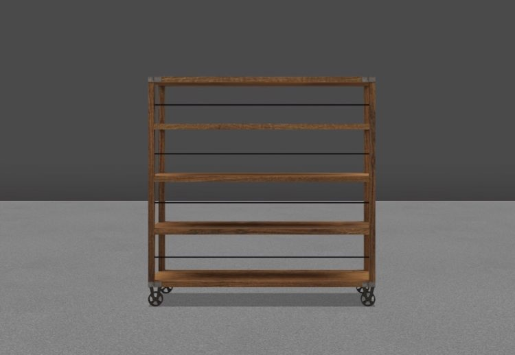AllSeated rolling book rack