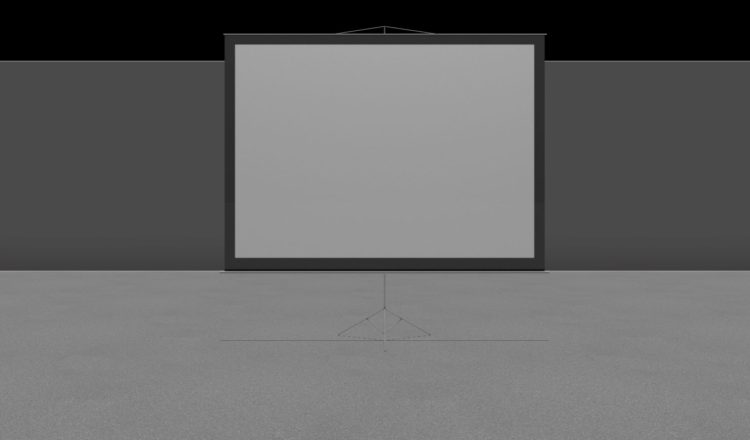 AllSeated projection screen