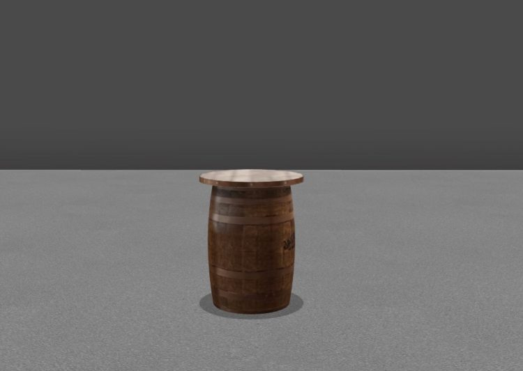 AllSeated whiskey barrel