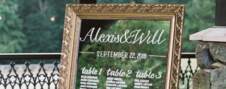 seating chart display trends and ideas for clients