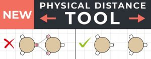 physical distance seating tool
